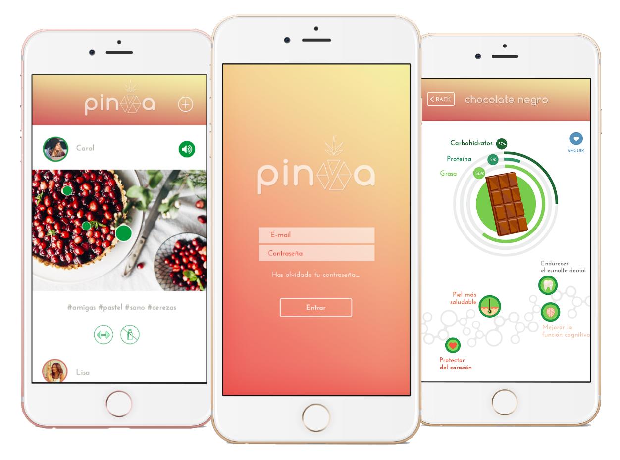 imágenes ejemplo funcionamiento app pinya 7
