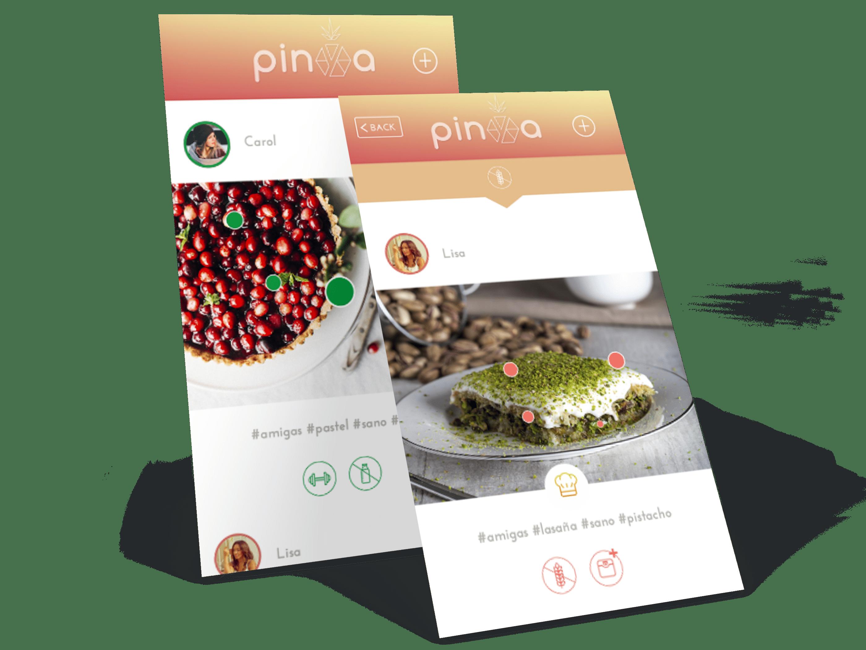 imágenes ejemplo funcionamiento app pinya 2